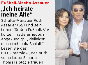 Assauer heiratet