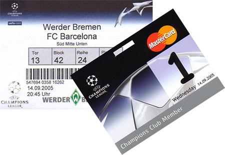 Bremen - Barcelona Ticket