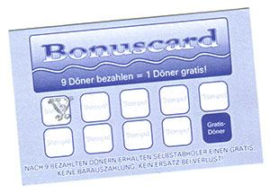 Döner Bonuscard
