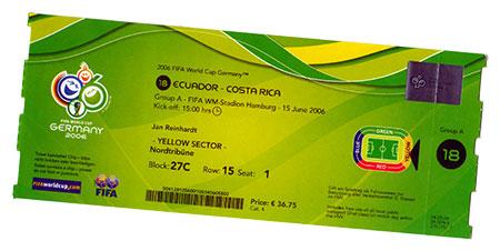 Ecuador - Costa Rica Ticket