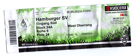 Gladbach - HSV Ticket
