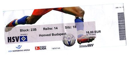 HSV - Honved Budapest
