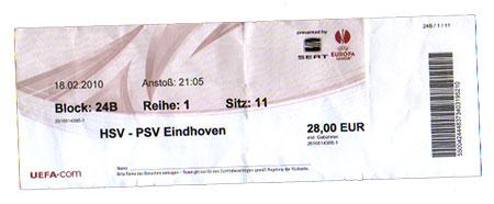 HSV - PSV Eindhoven
