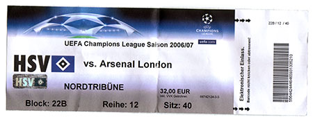 HSV - Arsenal London