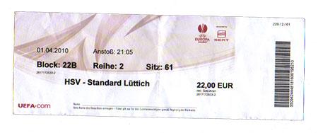 HSV - Standard Lüttich