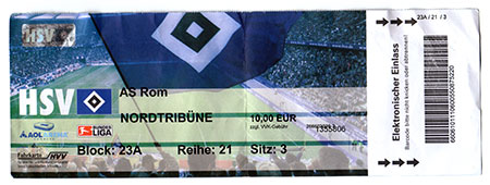 HSV - AS Rom Ticket