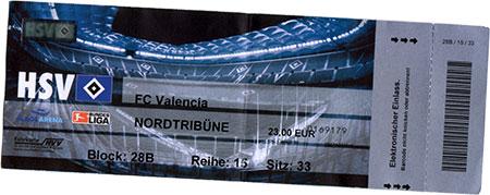 HSV - Valencia Ticket