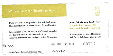 Grafikdesign im Jugendstil Ticket