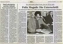 Felix Magath: Die Unterschrift