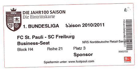St.Pauli - Freiburg Ticket