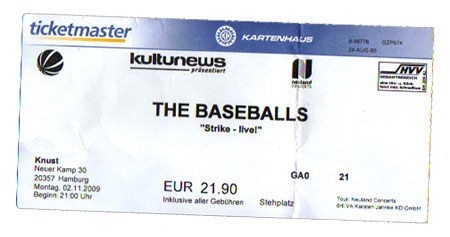 The Baseballs Ticket